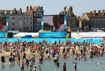 Screen, Beach Live Site. Weymouth and Portland Sailing, Olympic Games 2012